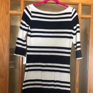 LILLY PULITZER Lockwood Blue Stripe Jersey Dress S